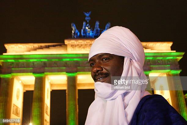 Brandenburger Gate Mr Mano Aghali is Tuareg member of the Nigerian parliament and member of the Panafrican parliament