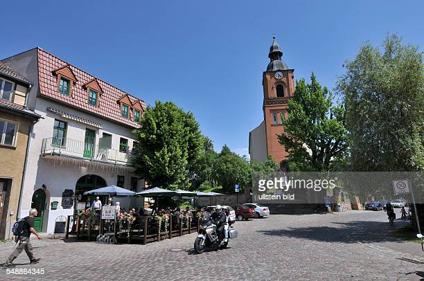 Germany Berlin Buckow market place and protestant church