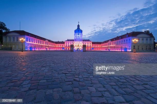 germany, berlin, charlottenburg, charlottenburg palace, dawn - charlottenburg palace stock pictures, royalty-free photos & images