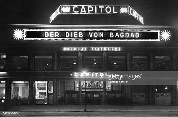 Germany Berlin Charlottenburg cinema Capitol at Budapester Strasse presenting the film 'The Thief of Bagdad' The cinema was built 1925/1926 by...