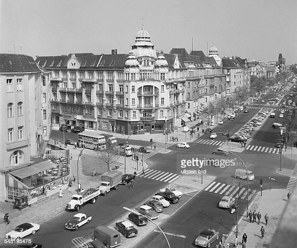 Germany Berlin Charlottenburg - Crossroad Kurfuerstendamm / Ecke Leibnizstrasse. - um 1960