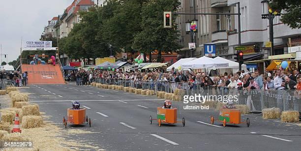 Germany Berlin Charlottenburg European and German Championship of soap box derby on the Kaiserdamm