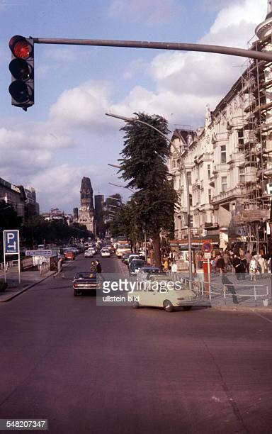 Germany Berlin Charlottenburg - Kurfuerstendamm corner Uhlandstrasse, 1974