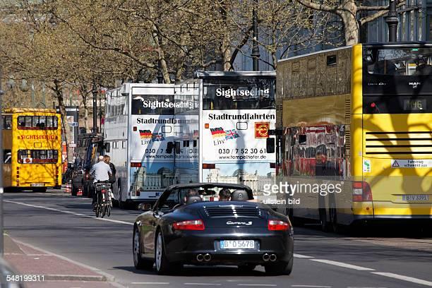 Germany Berlin Charlottenburg - Kurfuerstendamm, sightseeing by bus.