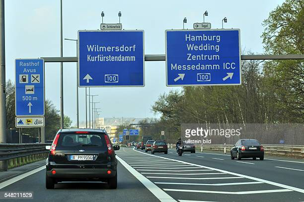Germany Berlin Charlottenburg - motorway A115, motorway junction Charlottenburg, direction to Hamburg
