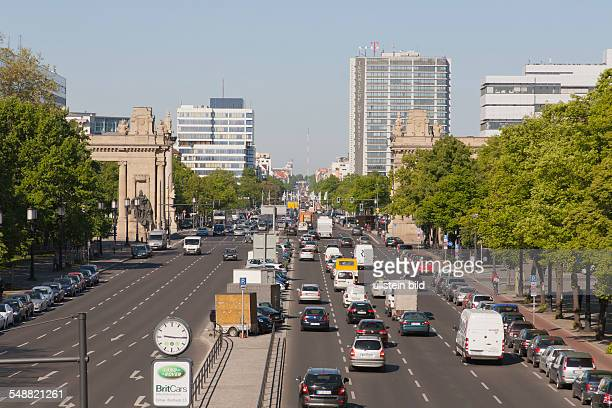 Germany Berlin CharlottenburgWilmersdorf View of the 17th June Street over Charlottenburg Gate to ErnstReuterPlace