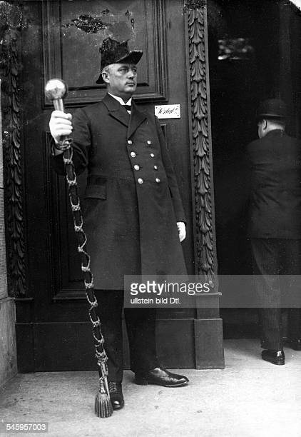 Germany Berlin Doorman at the Reichstag in uniform About 1929