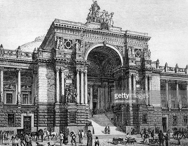 Germany Berlin Draft of the portal of the Reichstag by Ludwig Bohnstedt 1872