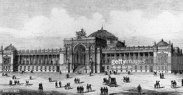 Germany Berlin Draft of the Reichstag by Ludwig Bohnstedt 1872