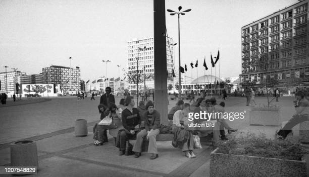 Germany, Berlin, East: The centre of the capital of the GDR, East Berlin, 30.4.1975 ._
