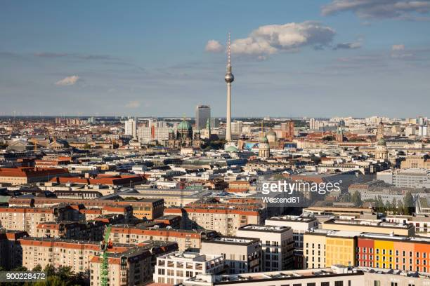 germany, berlin, elevated city view - east germany stock pictures, royalty-free photos & images