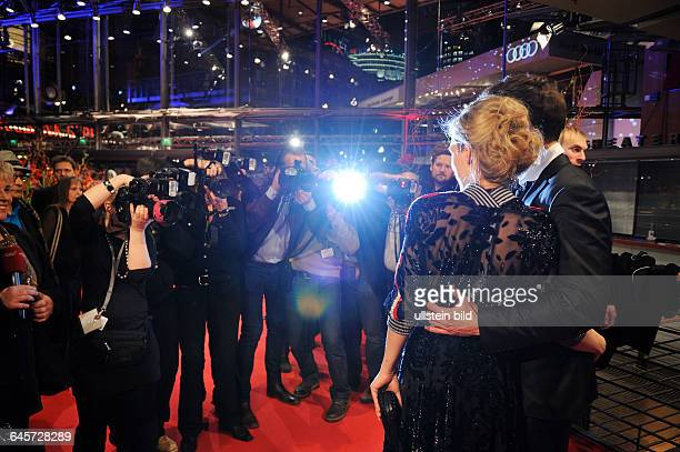 Germany/ Berlin/ Eröffnungsparty zur 65 Berlinale im Berlinale Palast, mit Ken Duken und Frau Marisa Leoni Bach