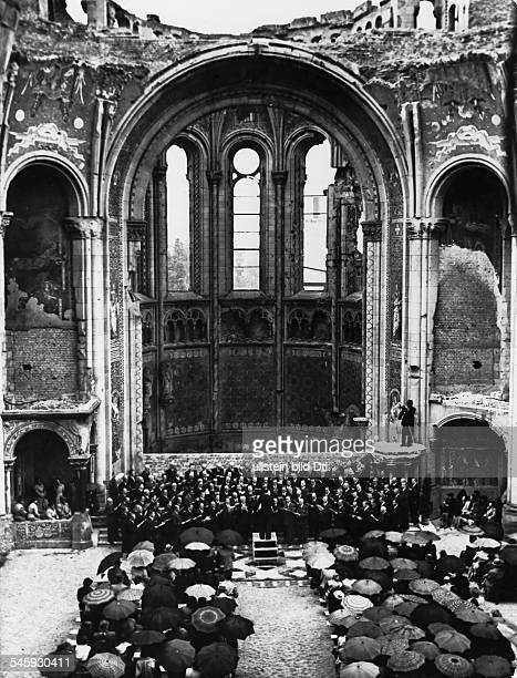 Germany Berlin Gedaechtniskirche concert of berlin teachers for the benefit of the reconstruction of the church 1952
