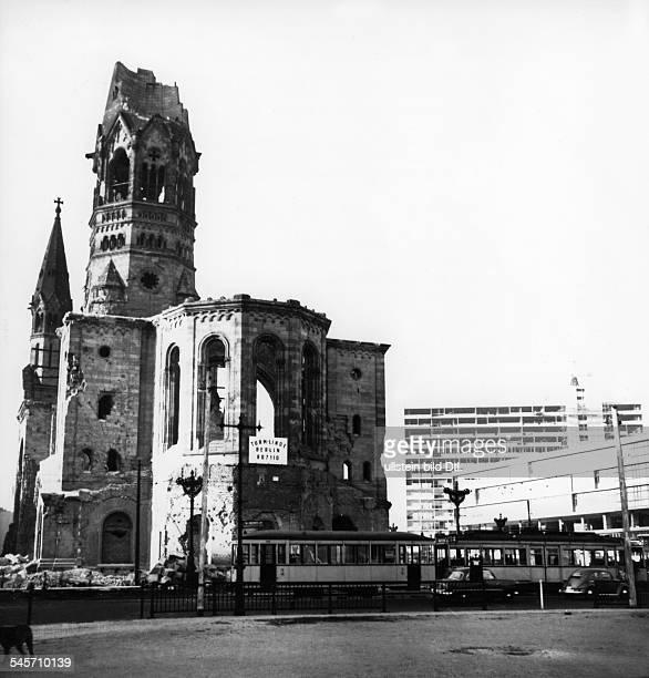 Germany Berlin Gedaechtniskirche The ruin about 1956