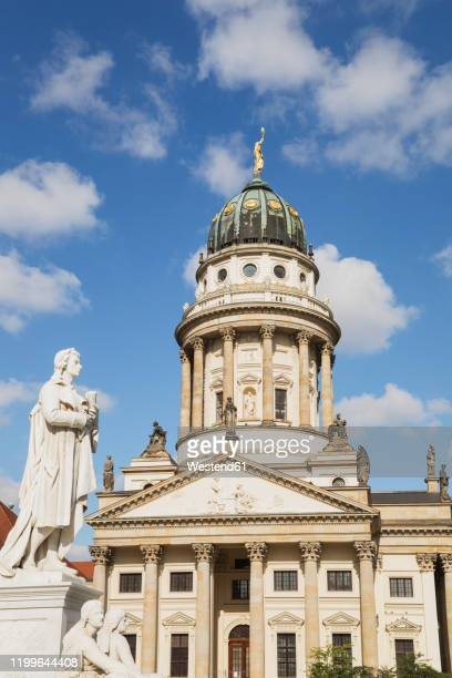 germany, berlin, gendarmenmarkt, facade of french cathedral - französischer dom stock pictures, royalty-free photos & images