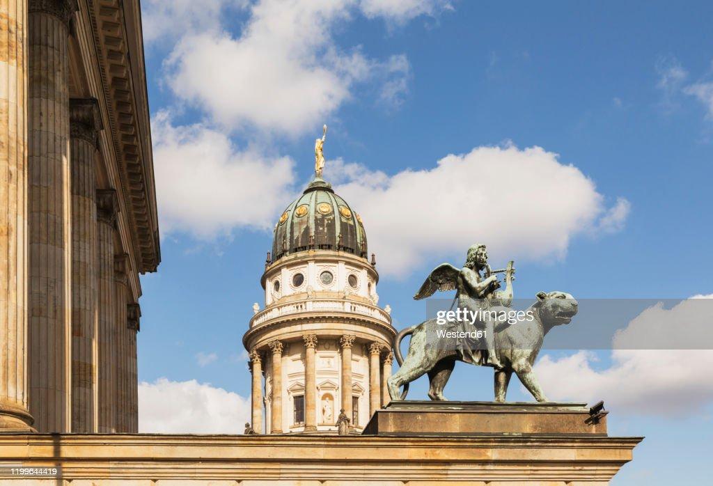 Germany, Berlin, Gendarmenmarkt, Konzerthaus Berlin and French Cathedral : Stock Photo