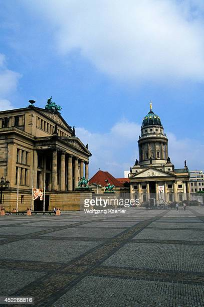 Germany Berlin Gendarmenmarkt View Of Theater And French Cathedral