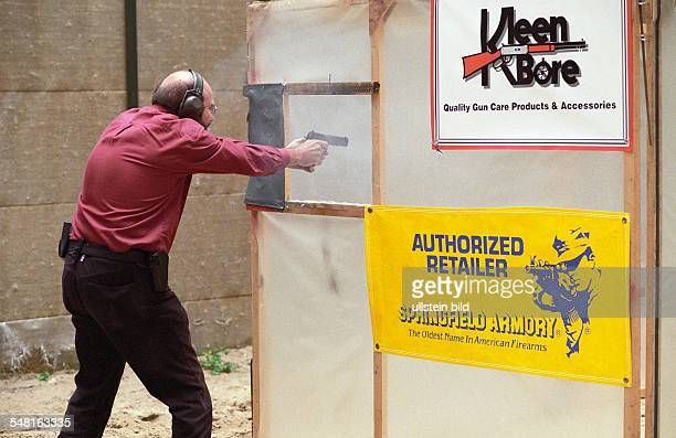 German championship of the International Practical Shooting Confederation Shooter with pistol in action July 15 2000