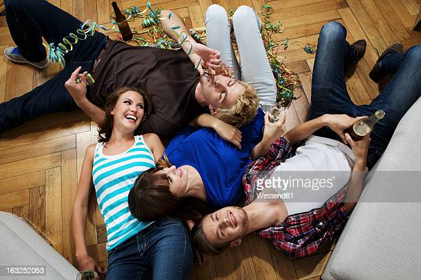 Germany, Berlin, Group of young people having fun