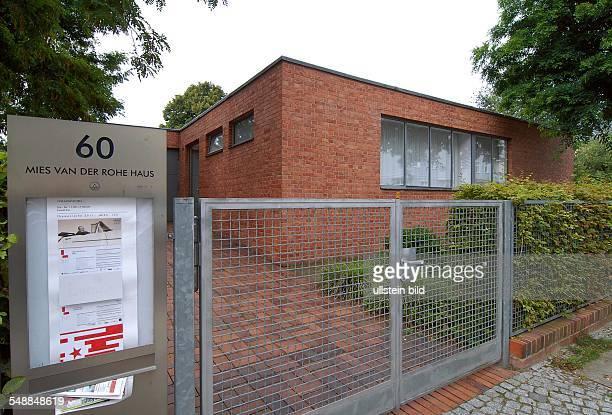 Germany Berlin Hohenschoenhausen Mies van der Rohe house at Oberseestrasse 60
