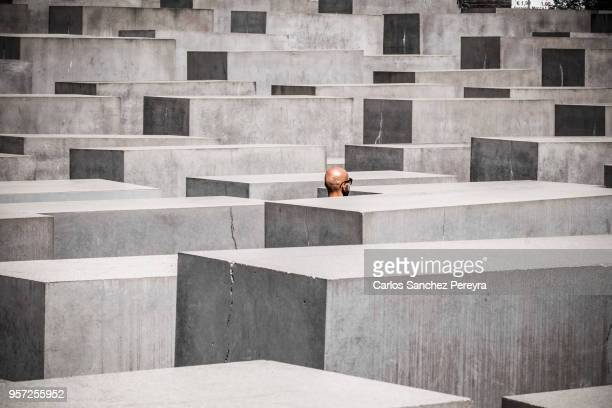 germany, berlin, holocaust memorial - holocaust stock pictures, royalty-free photos & images