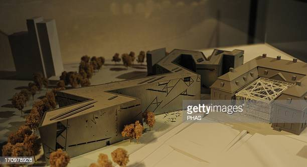 Germany Berlin Jewish Museum Berlin Built in 1999 by architect estadonidense of Jewish origin and born in Poland Daniel Libeskind Model