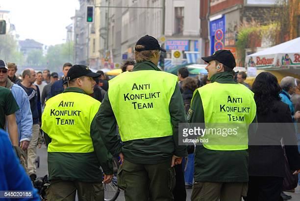 Germany - Berlin - Kreuzberg : MyFest - SO 36, Anti Konflikt Team is protecting people from violence