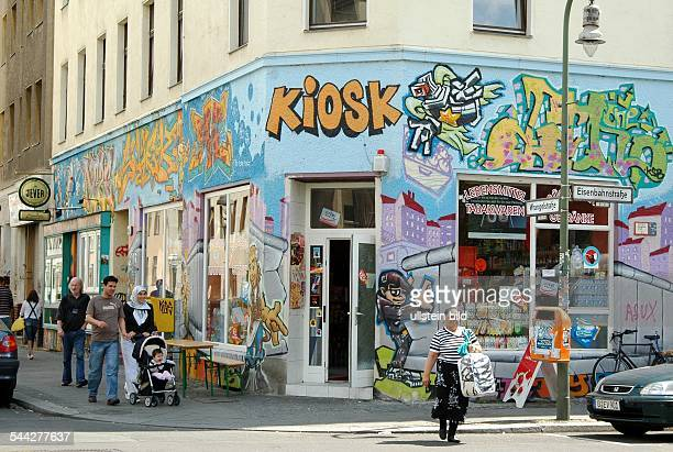 Germany Berlin Kreuzberg Wrangelkiez Kiosk Wrangelstrasse