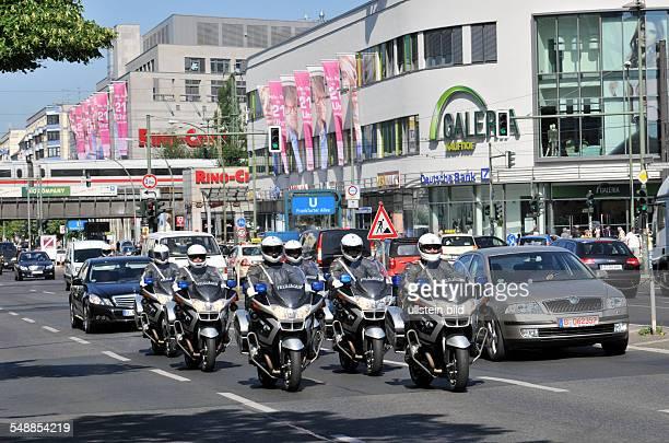 Germany Berlin Lichtenberg - motorcade at Frankfurter Allee