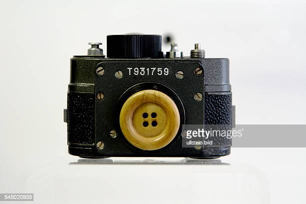 Germany Berlin Lichtenberg 'Stasi' museum ministry for state security button hole camera