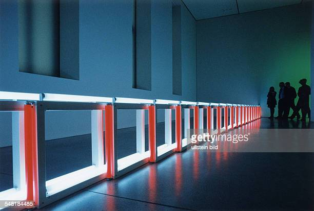 Light art by Dan Flavin presented at Deutsche Guggenheim Unter den Linden December 1999