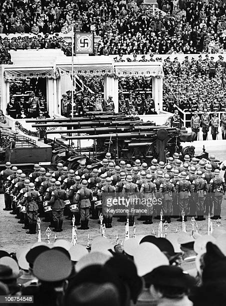 Germany Berlin Military Parade For The Fiftieth Birthday Of Adolf Hitler On April 20Th 1939