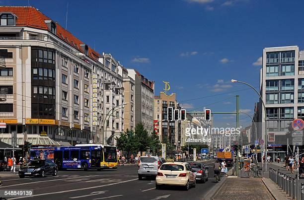 Germany Berlin Mitte - Boulevard 'Friedrichstrasse' near underground station 'Oranienburger Tor'