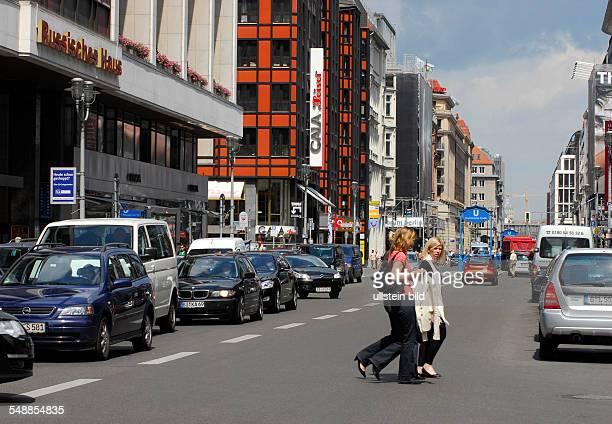 Germany Berlin Mitte - Boulevard 'Friedrichstrasse' near underground station 'Franzoesische Strasse'.