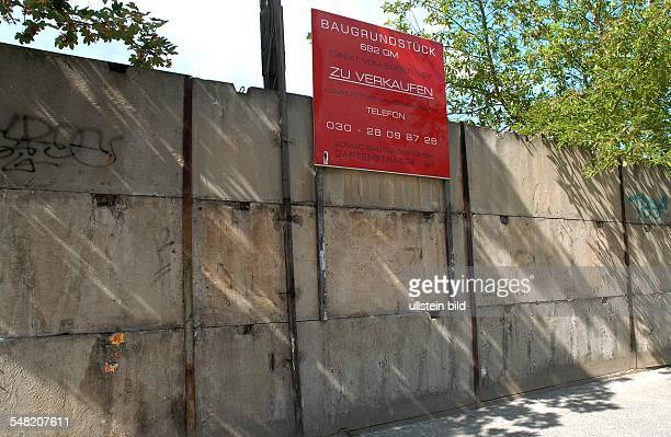 Germany Berlin Mitte building site for sale on the area of the former Berlin Wall at Gartenstrasse near Bernauer Strasse