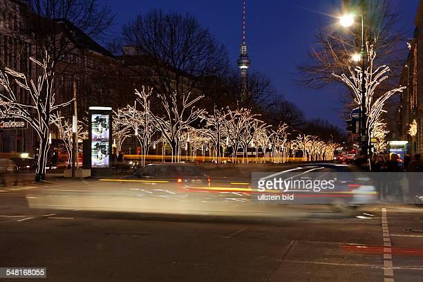 "Germany Berlin Mitte - Christmas illumination ""Unter den Linden"""
