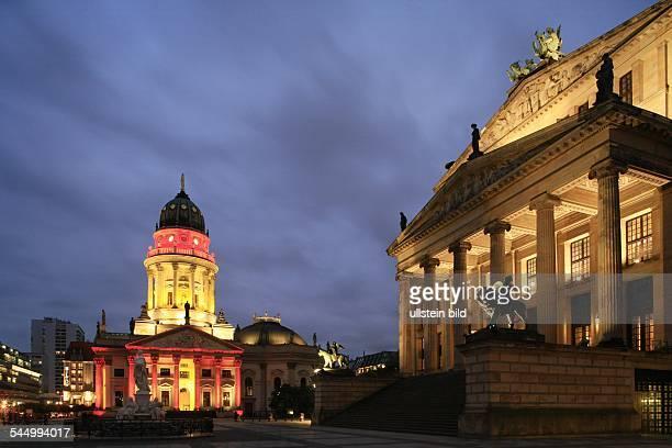 Deutscher Dom and Konzerthaus at Gendarmenmarkt during 3rd Festival of Lights