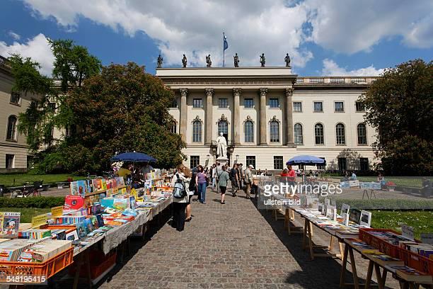 Humboldt Universitaet book market in front of the main building