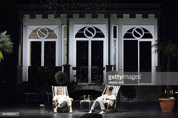 Germany Berlin Mitte MaximGorkiTheater Berlin showing Elective Affinities by Johann Wolfgang Goethe directed by Barbara Weber actors Anja Schneider...
