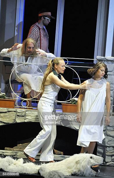 Germany Berlin Mitte MaximGorkiTheater Berlin showing Elective Affinities by Johann Wolfgang Goethe directed by Barbara Weber actors Wilhelm Eilers...