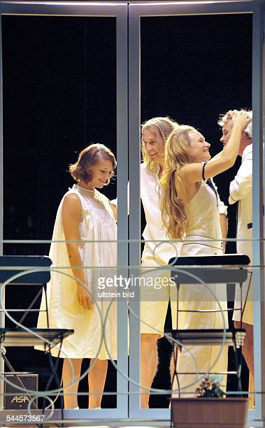 Germany Berlin Mitte MaximGorkiTheater Berlin showing Elective Affinities by Johann Wolfgang Goethe directed by Barbara Weber actors Britta...