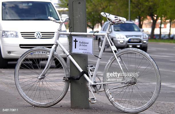 Germany Berlin Mitte - memorial for a bicyclist who died by an accident at Holzmarktstrasse