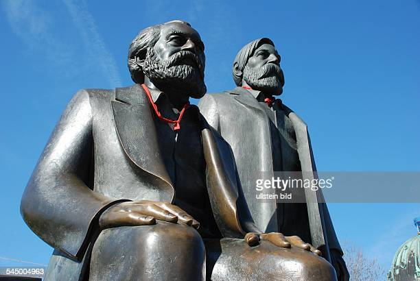 The monument for Karl Marx and Friedrich Engels at the MarxEngelsForum