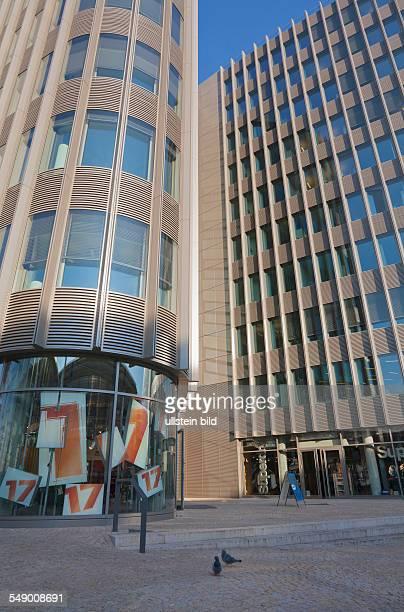 the new office building 'Spreedreieck' at the street 'Friedrichstrasse'