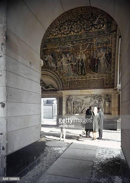 Germany Berlin Mosaics and reliefs in the ruin of the church KaiserWilhelmGedaechtnisKirche 1961