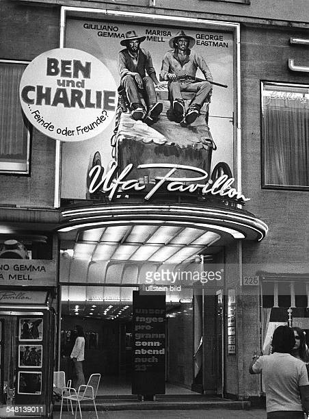 Germany Berlin movie theaters around 1973 The entrance to the Ufa Pavillon Cinema 1973 Vintage property of ullstein bild