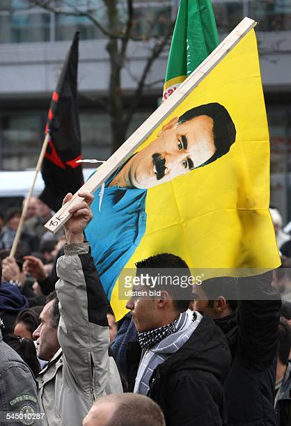 Germany Berlin Neukoelln turkish kurds in Berlin protesting against planned turkish military intervention in NorthIraq in order to destroy...