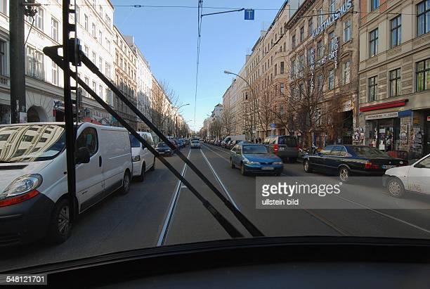 Germany Berlin Prenzlauer Berg - Kastanienallee seen out of a tram