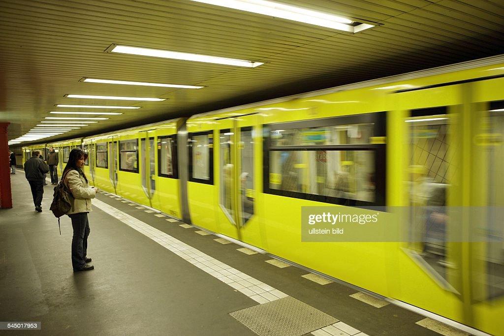 45ae19806154fc Germany - Berlin - Prenzlauer Berg   subway line 2  train at station ...