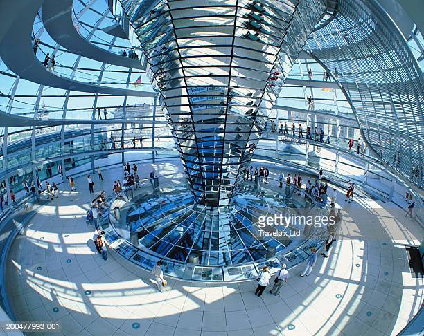 Germany, Berlin, Reichstag Dome interior (wide angle)